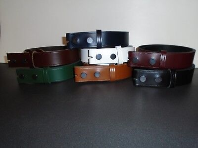 Fix Your Own Buckle  Leather Press-Stud Straps S To Xxl Available In 7 Colours