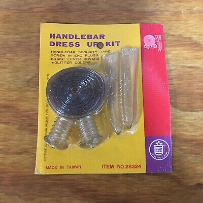 Muscle Bike Bar Tape Plugs Lever Covers Clear Glitter Nos Vintage