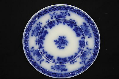 Antique J&G Meakin 'Hudson' Pattern Flow Blue Luncheon Plate Hanley England