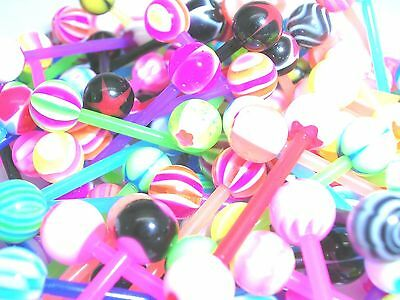 15 mod new flexi mix funky Tongue Bars PIERCING Jewellery tounge  sale