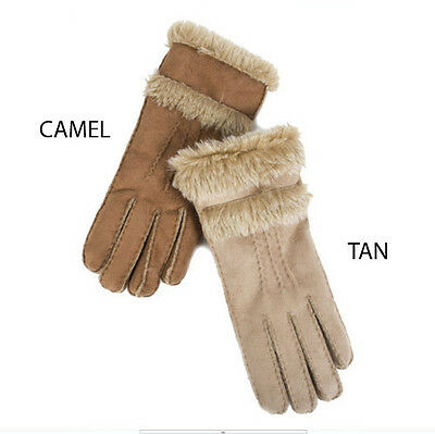 Faux Shearling Lamb Sheepskin Fur Warm Cosy Gloves Pia Rossini