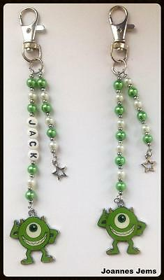 MIKE- MONSTERS INC BAG CHARM - PERSONALISED or PLAIN - SAME DAY POSTAGE