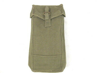post WWII Era British P44 Canvas Web Ammunition or Magazine Pouch Dated 1952