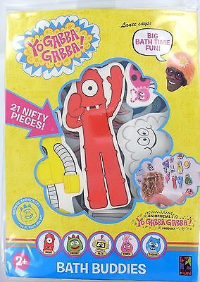YO GABBA GABBA Bath Buddies SET OF 21 Muno Brobee Foofa Toodee Plex Reusable NEW