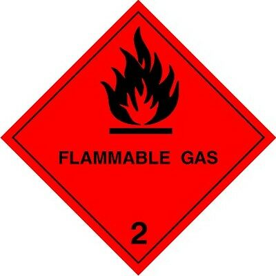 MAGNETIC Hazchem, Flammable Gas Warning Class 2, Camping, Car, Motorhome Caravan