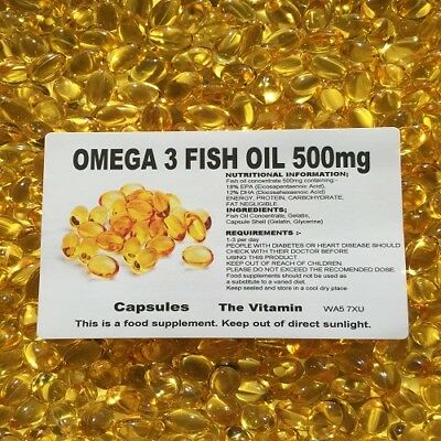 The Vitamin Omega 3 Fish Oil 500mg 60 Capsules - Bagged