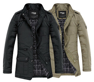 ZHF1031 New Mens Slim Jackets Coats Winter Designed Fashion Casual Outwear