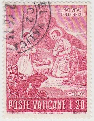 (VA96) 1965 VATICAN L20 red Christmas ow464