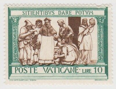 (VA65) 1960 VATICAN L10 green feeding the hungry ow327