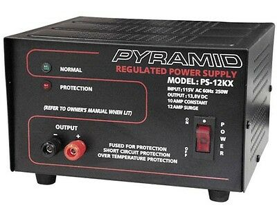 New Pyramid PS12KX (PS-12KX) 10 Amp 13.8V Constant Regulated AC/DC Power Supply