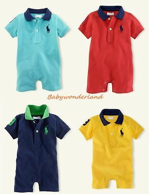 New Baby Boys Short Sleeves One Piece Jumpsuit Romper Size 00,0,1,2