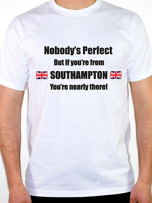 NOBODY/'S PERFECT BUT IF YOU/'RE FROM SKEGNESS Lincolnshire Themed Mens T-Shirt
