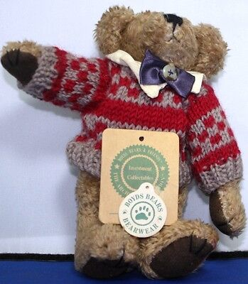 "Boyds Bears With  Sweater  9""  -  B-021"