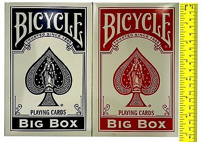 Bicycle 8082 Big Box Red or Blue Playing Cards Extra large Deck Magic Trick New