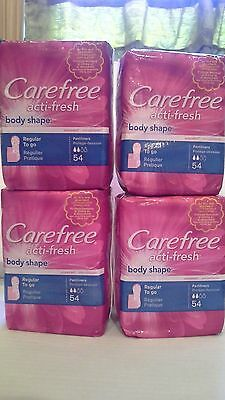 *lot 216 Pantiliners Carefree Acti-Fresh Body Shape Regular To Go, Unscent