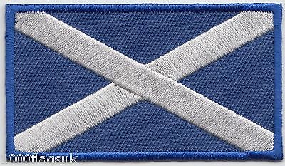 Scotland Scottish Saltire Rectangular Flag Embroidered Patch Badge