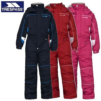 Trespass Laguna Boys Girls Unisex 1 Piece Kids All In One Ski Snow Suit Childs
