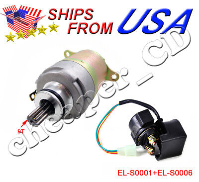 Roketa Sunl Baja Tank 125cc 150cC Starter Motor and Relay Solenoid Moped ATV New