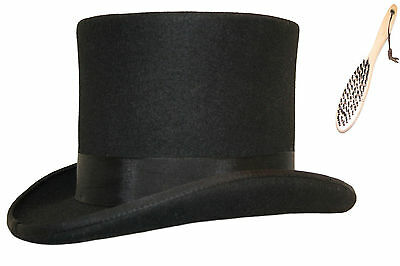 Quality 100% Wool Top Hat Felt Wedding Event Hat With Satin Lining - 14 Colours