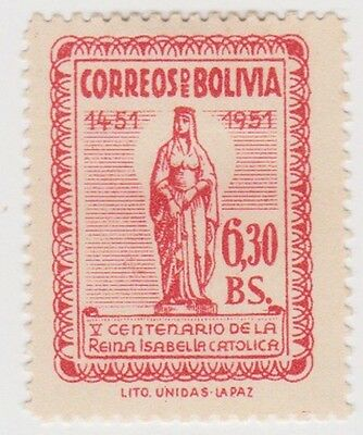 (BO62) 1952 Bolivia 6B 30 red 500th anniversary ow567