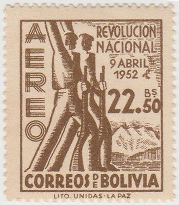 (BO68) 1953 Bolivia 22B 50 brown revolutionaries ow591