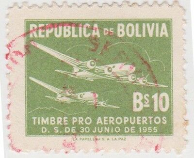 (BO85) 1957 Bolivia 10b green tax ow619