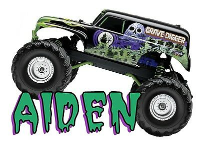 New Grave Digger Monster Truck Personalized T Shirt Birthday present #3