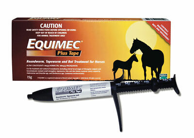 Horse wormer Equimec Plus Tape+Round+Bot Aniseed Flavour Low Dose Easy use