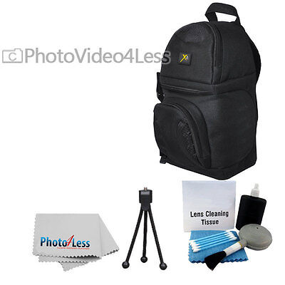 Deluxe Waterproof Backpack Bag For DSLR Camera photo Video Lens Accessories +Kit