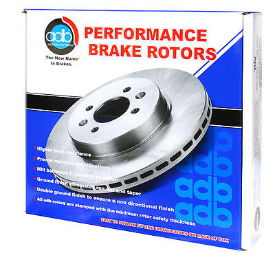 Adb Performance Slotted Cross Drilled Brake Rotor Rear Pair Ford Falcon Ba Bf Fg