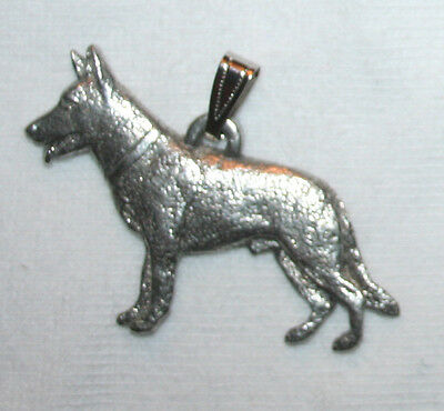 German Shepherd Dog Harris Fine Pewter Pendant Jewelry USA Made