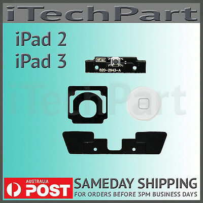 White Home Button Click Inner 4 Set  Replacement Part For iPad 2 iPad 3