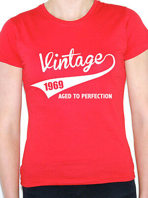 VINTAGE 1969 AGED TO PERFECTION -Birth Year/Birthday Gift Themed Women's T-Shirt