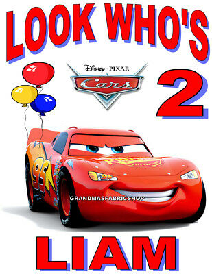 Cars Lightning McQueen Personalized Birthday T Shirt Party Favor Gift tee # 2