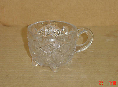 EAPG CRYSTAL GAELIC FOOTED PUNCH CUP INDIANA GLASS 1910