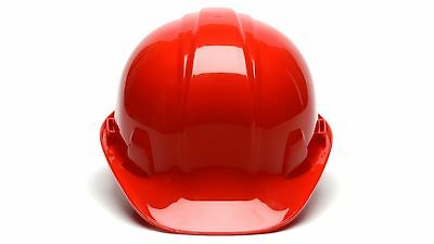 Pyramex HP14120 RED 4 Point Safety Cap Style Hard Hat Ratchet Suspension