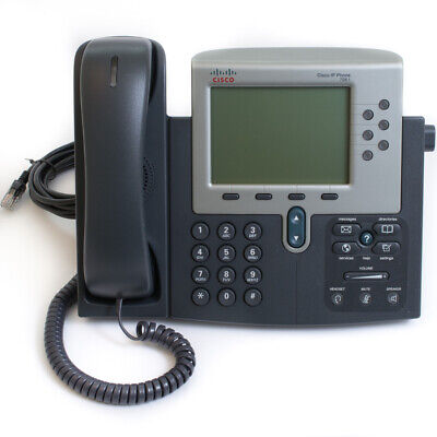 CISCO CP-7961G IP Phone VoIP PoE Grade A with NEW Cords FREE NEXT DAY DELIVERY