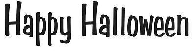 HAPPY HALLOWEEN DECAL Window Door Wall Vinyl STICKER Holiday Decoration
