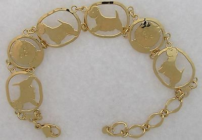West Highland White Terrier Jewelry Gold Bracelet by Touchstone
