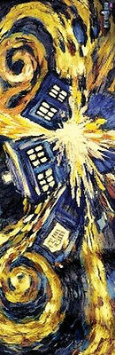 DOCTOR WHO - EXPLODING TARDIS DOOR SIZE POSTER - 21X62 TV SHOW DR BBC 0012