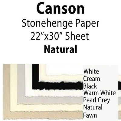 """Canson Stonehenge Paper 410 Natural 22""""x30"""" 100510254"""