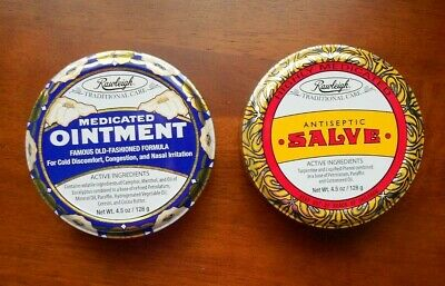Rawleigh Antiseptic Salve   &  Medicated Ointment Set 4.5 oz. each