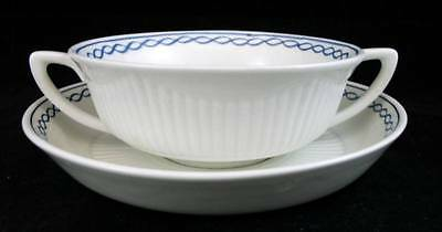 Adams BALTIC Cream Soup Bowl with Saucer Current Backstamp GREAT CONDITION