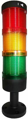 SUNS TL70-L24-RAG 70mm LED Beacon Tower Light Assembly 24 VDC Red Amber Green