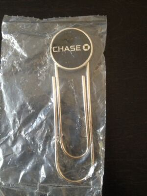 Chase Bank Giant Paper Clip