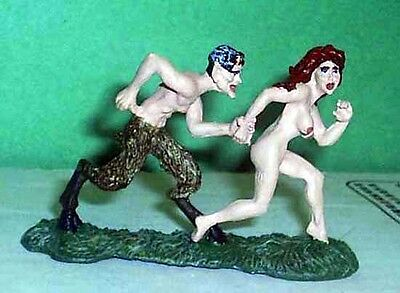 TOY SOLDIERS METAL ANCIENT GREECE SATYR CHASING WOMAN 54MM