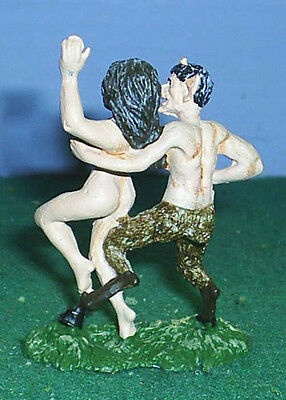 TOY SOLDIERS METAL ANCIENT GREECE SATYR HOLDING WOMAN 54MM