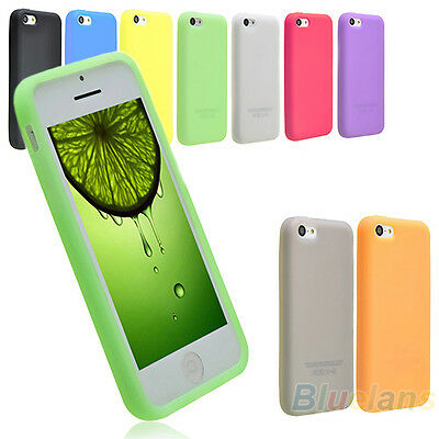 Protective Soft Silicon Gel Matte Case Cover Skin for Apple iPhone 5C/5S B52A