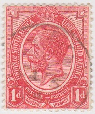 (RSA12) 1913 South Africa 1d red George V (C) ow4