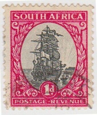 (RSA65)1926 South Africa 1d red & black (south) (D)ow47